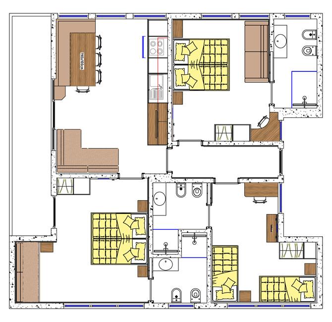 Appartamento 3 completamente arredato a selva di val gardena for 3 camere da letto 3 piani del bagno